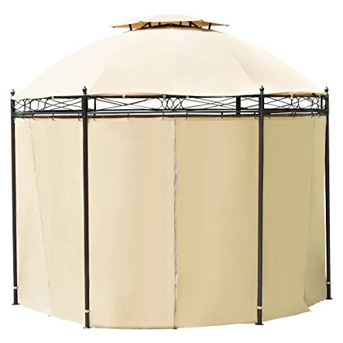 TANGKULA-10-ft-Round-Gazebo-Canopy-Shelter-Outdoor-Tent-with-Side-Walls-0