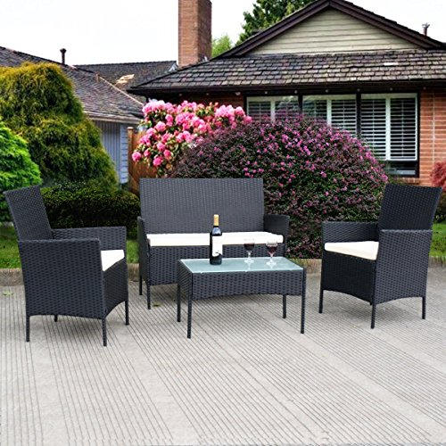 TANGKULA-4-pcs-Wicker-Furniture-Set-Outdoor-Patio-Furniture-Rattan-Wicker-Sofas-Garden-Lawn-Poolside-Cushioned-Seat-Conversation-Set-with-Removable-Cushions-Coffee-Table-Patio-Furniture-0-0