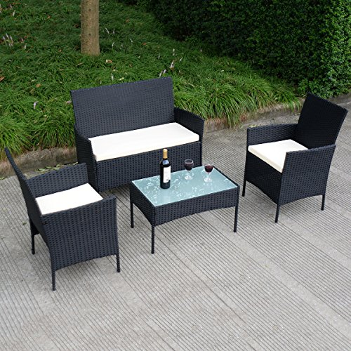 TANGKULA-4-pcs-Wicker-Furniture-Set-Outdoor-Patio-Furniture-Rattan-Wicker-Sofas-Garden-Lawn-Poolside-Cushioned-Seat-Conversation-Set-with-Removable-Cushions-Coffee-Table-Patio-Furniture-0-2