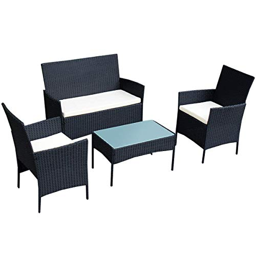 TANGKULA-4-pcs-Wicker-Furniture-Set-Outdoor-Patio-Furniture-Rattan-Wicker-Sofas-Garden-Lawn-Poolside-Cushioned-Seat-Conversation-Set-with-Removable-Cushions-Coffee-Table-Patio-Furniture-0