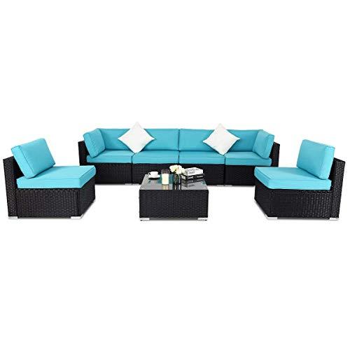 TANGKULA-Patio-Rattan-Sofa-Outdoor-Garden-Modern-PE-Wicker-Rattan-Sofa-Conversation-Furniture-Set-with-Cushion-0-0