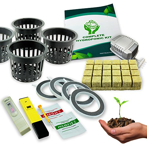 Ten-Green-Fingers-Easy-to-use-Complete-Deep-Water-Culture-Hydroponic-System-With-4-Growing-Sites-0-0