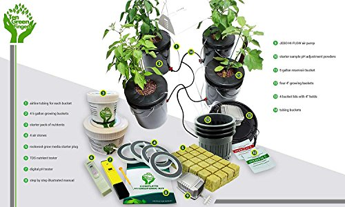 Ten-Green-Fingers-Easy-to-use-Complete-Deep-Water-Culture-Hydroponic-System-With-4-Growing-Sites-0