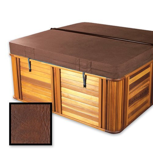 The-Cover-Guy-Deluxe-5-Foam-with-Upgrade-Vapor-Barrier-Replacement-Hot-Tub-Spa-Cover-Master-spa-84x84x6-radius-corners-Brown-or-Grey-0