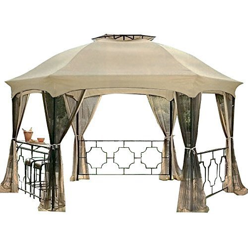 The-Outdoor-Patio-Store-Netting-for-Dawson-12×15-Hexagonal-Gazebos-0