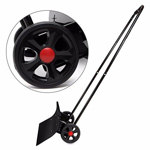 TimmyHouse-Snow-Shovel-Adjustable-Angle-Wheeled-Shove-Walk-Behind-Pusher-Angled-Wide-Steel-Blade-0