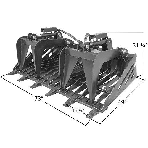 Titan-Attachments-72-Rock-Bucket-Grapple-Skeleton-Loader-wTeeth-Skid-Steer-0-0