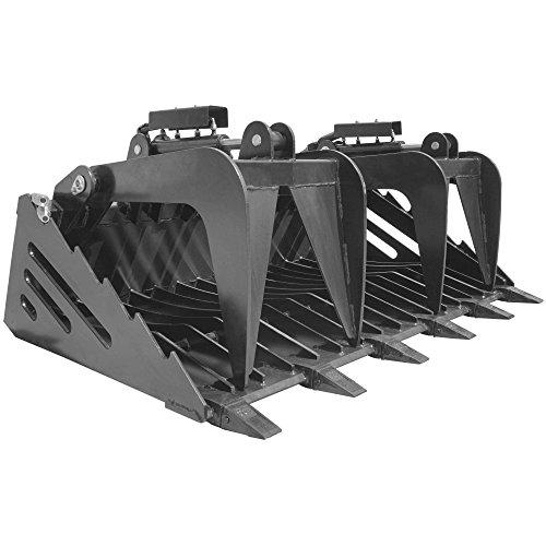 Titan-Attachments-72-Rock-Bucket-Grapple-Skeleton-Loader-wTeeth-Skid-Steer-0