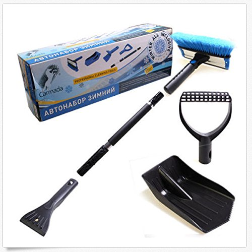 Toolcool-Ice-Snow-Scraper-Combination-Winter-Vehicle-Windshield-Car-Brush-Shovel-Retractable-Removal-Black-0-0