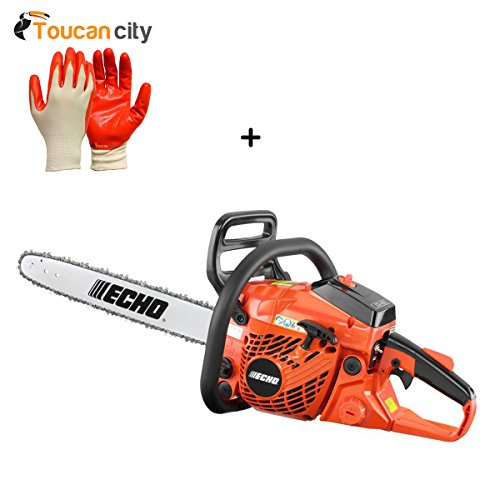 Toucan-City-Nitrile-Dip-Gloves5-Pack-and-ECHO-18-in-402cc-Gas-Chainsaw-CS-400-18-0
