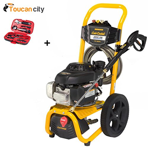 Toucan-City-Tool-kit-9-piece-and-Cub-Cadet-3200-PSI-24-GPM-Gas-Pressure-Washer-Powered-by-HONDA-GCV190-PW3224H-0