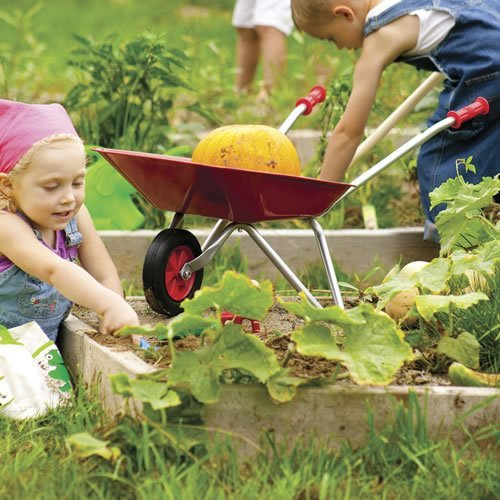 Toysmith-Kid-Sized-Little-Red-Wheelbarrow-Outdoor-Home-Garden-Supply-Maintenance-0-0