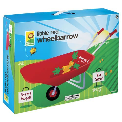 Toysmith-Kid-Sized-Little-Red-Wheelbarrow-Outdoor-Home-Garden-Supply-Maintenance-0-1