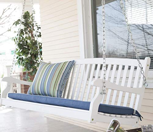 Traditional-Country-White-Hardwood-Slatted-Patio-Porch-Swing-4-Foot-0