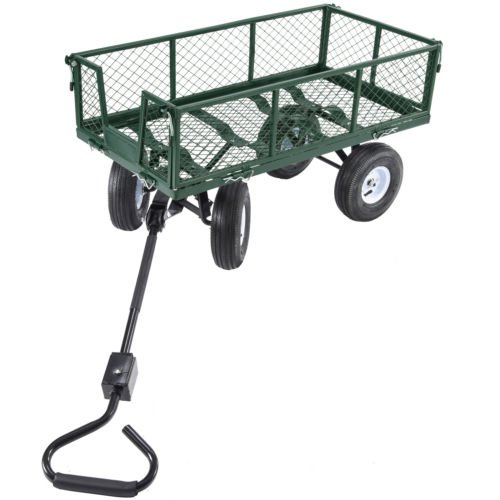 Trendy-Heavy-Duty-Steel-Wagon-Cart-Very-Sturdy-And-Maneuver-Easily-This-Wagon-Cart-Is-The-Ideal-One-For-Any-Hauling-Job-Around-Your-House-Backyard-Garden-660lb-0-0