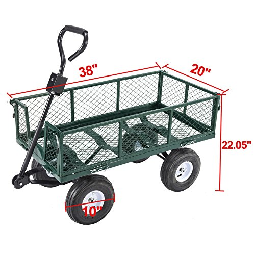 Trendy-Heavy-Duty-Steel-Wagon-Cart-Very-Sturdy-And-Maneuver-Easily-This-Wagon-Cart-Is-The-Ideal-One-For-Any-Hauling-Job-Around-Your-House-Backyard-Garden-660lb-0-1
