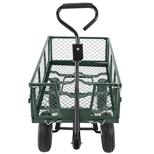 Trendy-Heavy-Duty-Steel-Wagon-Cart-Very-Sturdy-And-Maneuver-Easily-This-Wagon-Cart-Is-The-Ideal-One-For-Any-Hauling-Job-Around-Your-House-Backyard-Garden-660lb-0-2
