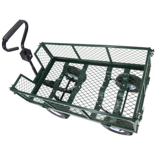 Trendy-Heavy-Duty-Steel-Wagon-Cart-Very-Sturdy-And-Maneuver-Easily-This-Wagon-Cart-Is-The-Ideal-One-For-Any-Hauling-Job-Around-Your-House-Backyard-Garden-660lb-0