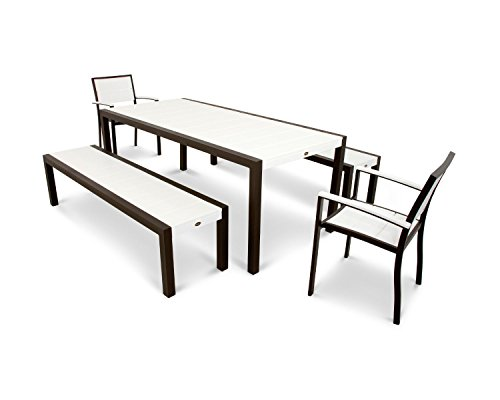 Trex-Outdoor-Furniture-Surf-City-5-Piece-Bench-Dining-Set-in-Textured-Bronze-Classic-White-0