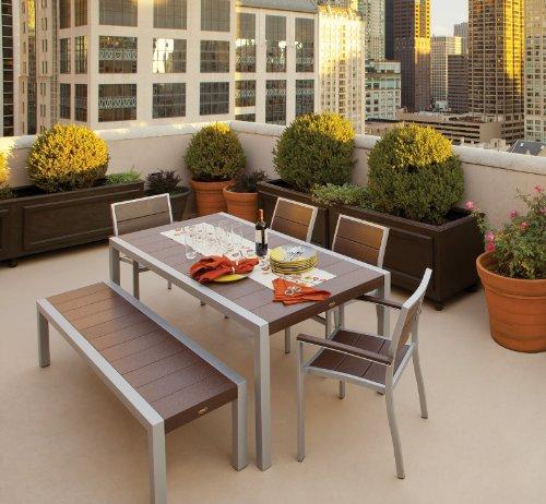 Trex-Outdoor-Furniture-TXS124-1-11VL-Surf-City-6-Piece-Dining-Set-Textured-SilverVintage-Lantern-0-2