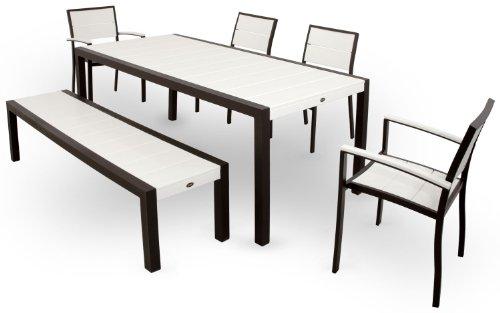 Trex-Outdoor-Furniture-TXS124-1-11VL-Surf-City-6-Piece-Dining-Set-Textured-SilverVintage-Lantern-0