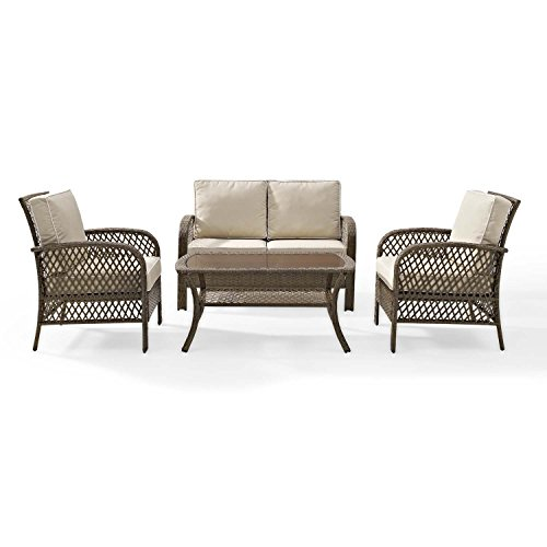Tribeca-4-Piece-Deep-Seating-Group-Outdoor-Patio-Conversation-Set–UV-Protection-Wicker-Rattan-Steel-Frame-Furniture–High-Grade-Waterproof-Fade-Resistant-Cushions–Glass-Coffee-Table–Loveseat-Chair–0-0