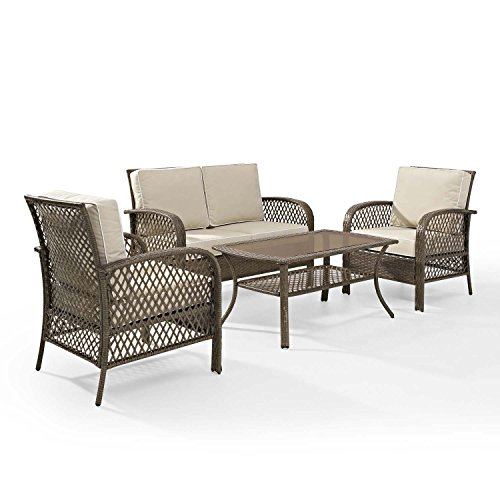 Tribeca-4-Piece-Deep-Seating-Group-Outdoor-Patio-Conversation-Set–UV-Protection-Wicker-Rattan-Steel-Frame-Furniture–High-Grade-Waterproof-Fade-Resistant-Cushions–Glass-Coffee-Table–Loveseat-Chair–0-1