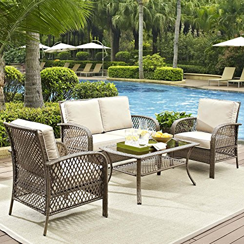 Tribeca-4-Piece-Deep-Seating-Group-Outdoor-Patio-Conversation-Set–UV-Protection-Wicker-Rattan-Steel-Frame-Furniture–High-Grade-Waterproof-Fade-Resistant-Cushions–Glass-Coffee-Table–Loveseat-Chair–0