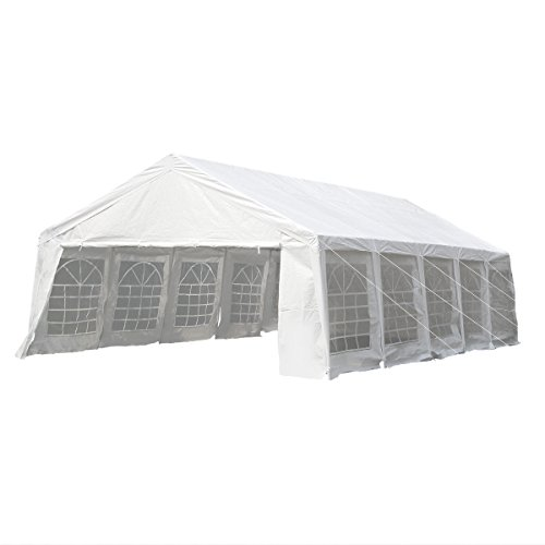 UNIONLINE-197W-x-328D-Heavy-Duty-Outdoor-Wedding-Carport-Canopy-Party-Tent-White-with-Sidewalls-0-2