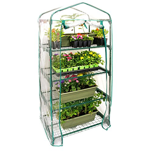 US-Garden-Supply-Premium-4-Tier-Greenhouse-27-Long-x-19-Wide-x-63-High-Grow-Seeds-Seedlings-Tend-Potted-Plants-0