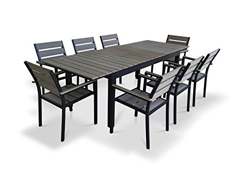 UrbanFurnishingnet-9-Piece-Eco-Wood-Extendable-Outdoor-Patio-Dining-Set-0-0