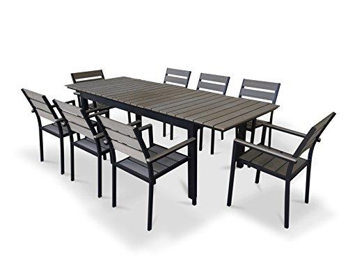 UrbanFurnishingnet-9-Piece-Eco-Wood-Extendable-Outdoor-Patio-Dining-Set-0