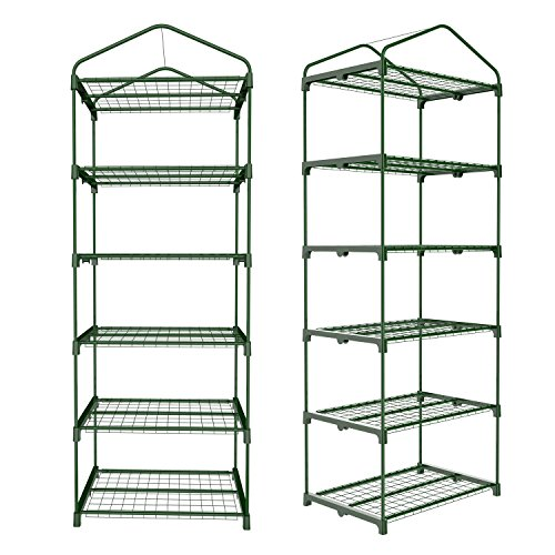 Utheing-5-Tier-Greenhouse-Shelf-with-PVC-Cover-for-Outdoor-Indoor-Garden-Plants-0-0