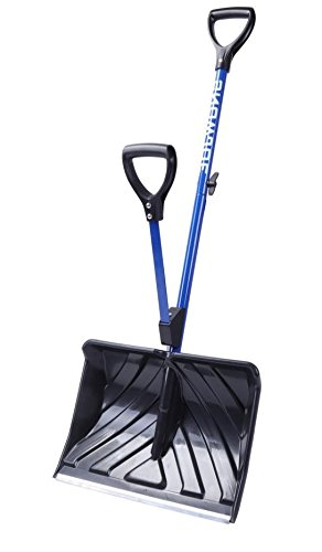 Utility-Snow-Shovel-Blue-N-Black-Poly-Carbonate-And-Metallic-Material-Wide-Frame-Dual-Grip-Assist-Enhanced-Comfort-And-Convenience-Durable-And-Strong-Construction-Ideal-For-Snowy-Days-E-Book-0