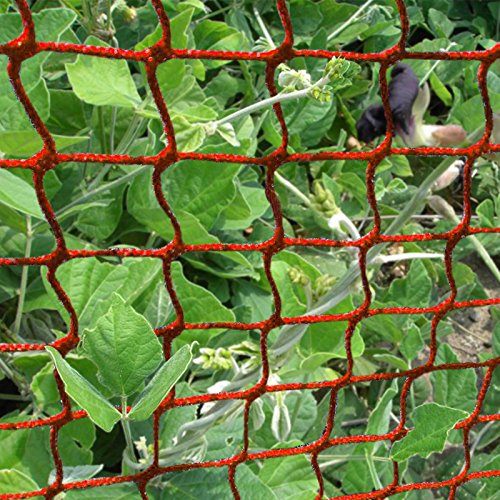 V-Protek-5x20ft-Plastic-Poultry-Fence-Poultry-NettingChicken-Net-Fence-For-Flower-Plants-SupportRed-0-0