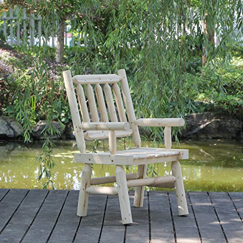 VH-FURNITURE-Outdoor-Furniture-Round-1575-Inch-Side-Table-Nature-Wood-0-0