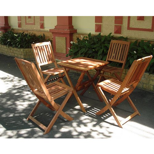 VIFAH-V03SET2-Outdoor-Wood-5-Piece-Dining-Set-Natural-Wood-Finish-24-by-24-by-27-Inch-0-0