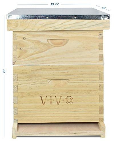 VIVO-Complete-Beekeeping-20-Frame-Beehive-Box-Kit-10-Medium-10-Deep-Langstroth-Bee-Hive-from-BEE-HV01-0-0