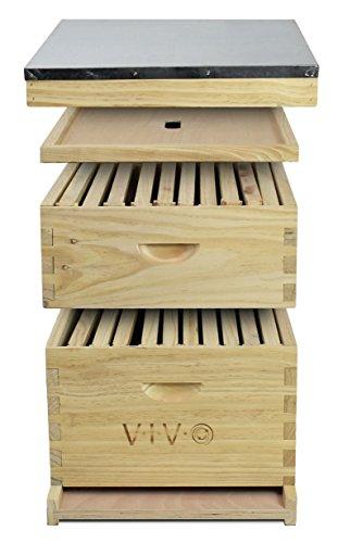 VIVO-Complete-Beekeeping-20-Frame-Beehive-Box-Kit-10-Medium-10-Deep-Langstroth-Bee-Hive-from-BEE-HV01-0-1