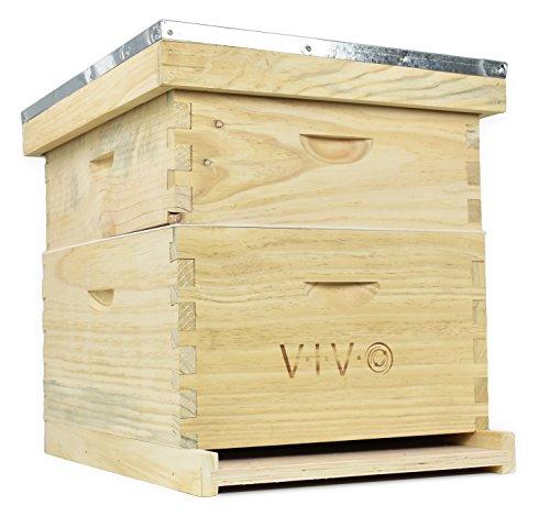 VIVO-Complete-Beekeeping-20-Frame-Beehive-Box-Kit-10-Medium-10-Deep-Langstroth-Bee-Hive-from-BEE-HV01-0