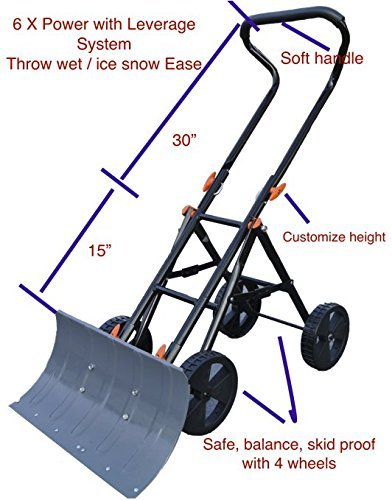 Variety-To-Go-Snow-Shovel-with-Wheels-Adjustable-Wheeled-Snow-Pusher-Heavy-Duty-Rolling-Snow-Plow-Shovels-with-8-Wheels-Efficient-Snow-Plow-Snow-Removal-Tool-0-0