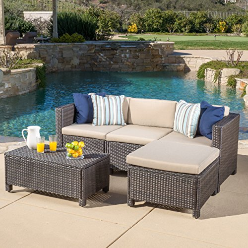 Venice-Outdoor-Wicker-Patio-Furniture-Grey-Black-Sofa-Seating-Set-wCushions-0