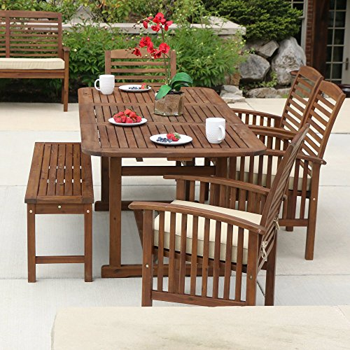 WE-Furniture-Acacia-Wood-Patio-Chairs-Set-of-2-Brown-0-2