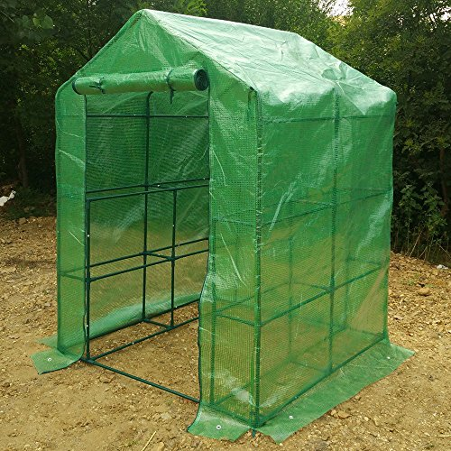 WShop-2-Tier-8-Shelf-Greenhouse-Portable-Lawn-and-Garden-Pe-Replacement-Cover-Fit-Frame-0-0