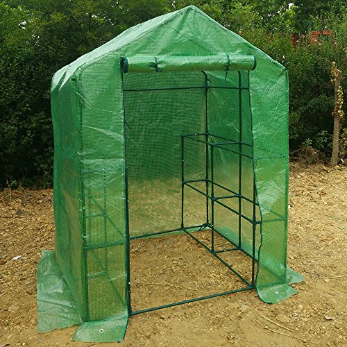WShop-2-Tier-8-Shelf-Greenhouse-Portable-Lawn-and-Garden-Pe-Replacement-Cover-Fit-Frame-0-1