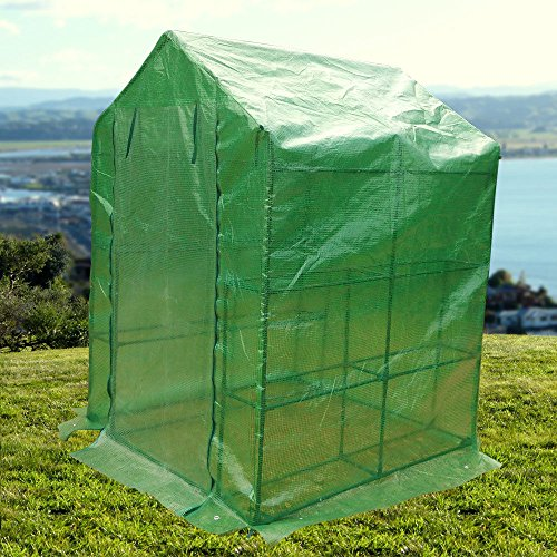 WShop-2-Tier-8-Shelf-Greenhouse-Portable-Lawn-and-Garden-Pe-Replacement-Cover-Fit-Frame-0