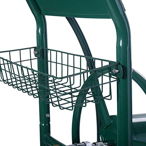 Wakrays-Garden-Water-Hose-Reel-Cart-300FT-Outdoor-Heavy-Duty-Yard-Planting-WBasket-New-0-0