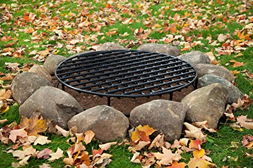 Walden-Fire-Pit-Grate-Round-295-Diameter-Premium-Heavy-Duty-Steel-Grate-with-Ember-Catcher-for-Outdoor-Fire-Pits-0-0