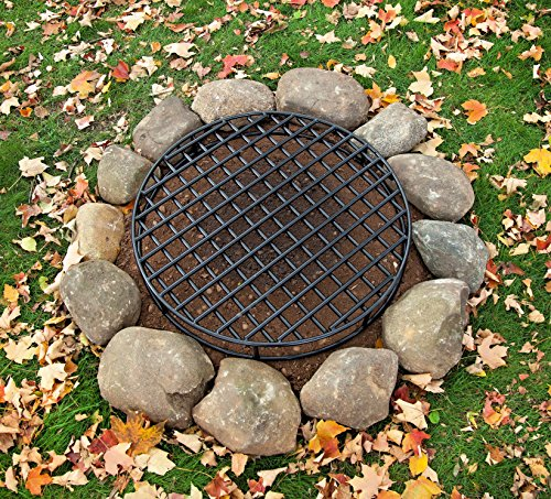 Walden-Fire-Pit-Grate-Round-295-Diameter-Premium-Heavy-Duty-Steel-Grate-with-Ember-Catcher-for-Outdoor-Fire-Pits-0-1