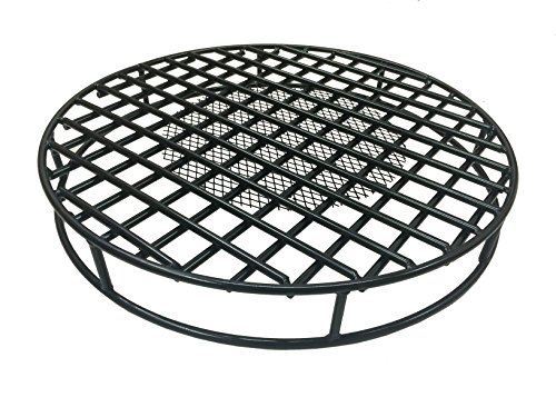 Walden-Fire-Pit-Grate-Round-295-Diameter-Premium-Heavy-Duty-Steel-Grate-with-Ember-Catcher-for-Outdoor-Fire-Pits-0